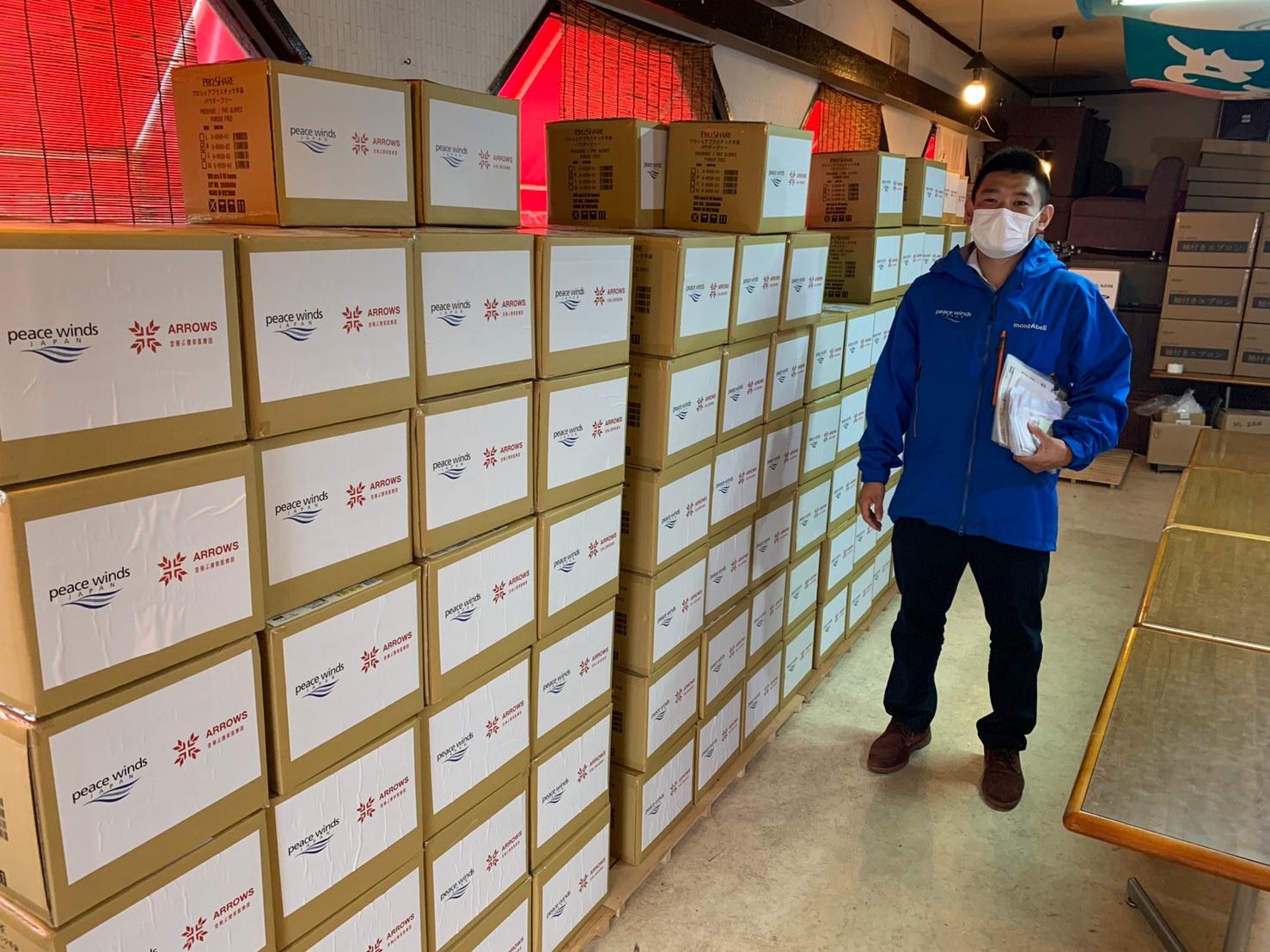 【新型コロナウイルス緊急支援】大阪府にある300の医療機関にビニール手袋を送付